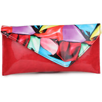 Do Bhai Fashionable Multi Pentant Red Clutch