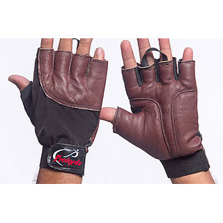 Prokyde Hit Gym & Fitness Gloves-(XL Black Brown)