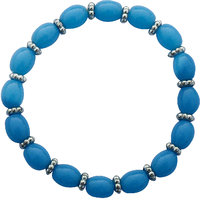 Blue Beaded Stretchable Bracelet