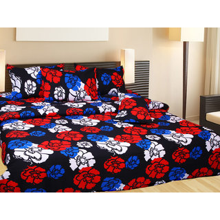 Akash Ganga Cotton Double Bedsheet with 2 Pillow Covers (KM561)