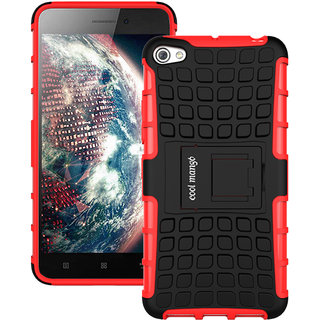 Lenovo S60 Protective Back Cover / Case  Cool Mango Premium Dual Layer Armor Protection Case Cover with Kickstand for Lenovo S60 - Red