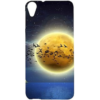 Casotec Moon View Design Hard Back Case Cover for HTC Desire 820