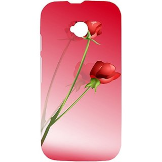 Casotec Red Roses Design Hard Back Case Cover for Motorola Moto E 2nd Generation