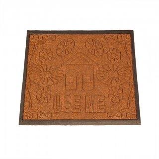 Ritika Carpets Brown Plain Floor Mat r1513