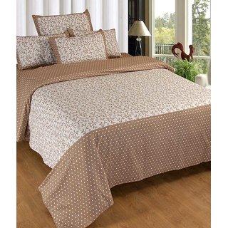 Akash Ganga Cotton Double Bedsheet with 2 Pillow Covers (KM598)