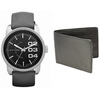Combo of Clayton watch and Wallet- CW-09