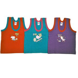 BelleGirl Cotton Tshirt Combo With Dark Colour 0-6M Pack of 3