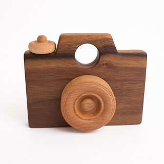 Wooden Classic Camera Toy- All Natural- Eco-Friendly- Wood Toy