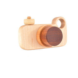 Wooden Toy Camera - Eco-friendly Imagination Toy - Pretend Play for a Baby Toddler or a Preschoole