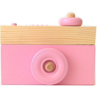 Wooden Camera- Camera Ornament- Baby Pink Home Decor- Toy Camera- Camera Sculpture- Pink Decor- Baby Pink Camera- Wooden Home Decor