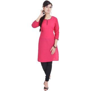 Shop Rajasthan Pink Cotton Regular Kurti For Women