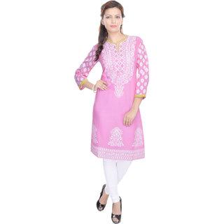 Shop Rajasthan White Printed Cotton Stitched Kurti
