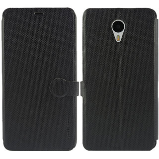Meizu m1 note Flip Cover / Case - Cool Mango iMaterial Leather Flip Cover / Case for Meizu m1 note - Royal Black