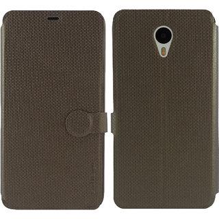 Meizu m1 note Flip Cover / Case - Cool Mango iMaterial Leather Flip Cover / Case for Meizu m1 note - Bronze