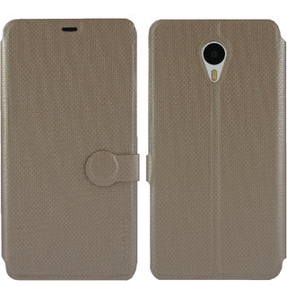 Meizu m1 note Flip Cover / Case - Cool Mango iMaterial Leather Flip Cover / Case for Meizu m1 note - Royal Gold