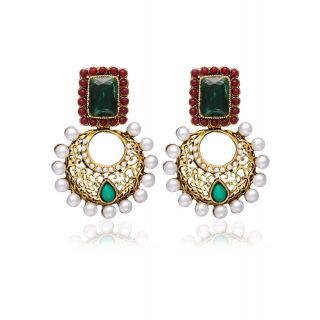 Zaveri Pearls Traditional Indo Western Pattern Earring For Women ZPFK645