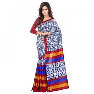 Sareemall Self Designer Color Multi Ghicha Silk Printed  Saree