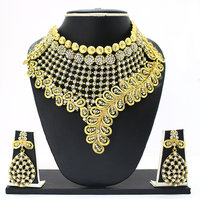Zaveri Pearls Non Plated Gold Alloy Necklace Set For Women