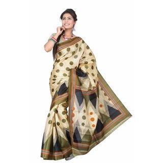 Aaina Multi Printed Bhagalpuri Silk Saree (FL-5035-C)