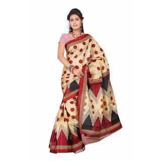 Aaina Multi Printed Bhagalpuri Silk Saree (FL-5035-D)