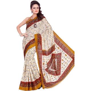 Aaina Multi Printed Bhagalpuri Silk Saree (FL-1293-B)