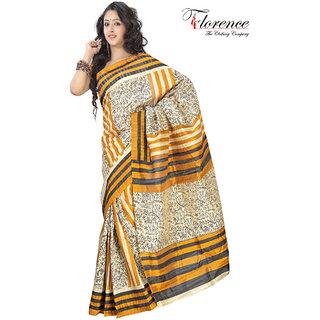 Aaina Multi Printed Bhagalpuri Silk Saree (FL-1334-D)