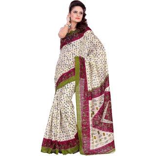 Aaina Multi Printed Bhagalpuri Silk Saree (FL-1293-A)