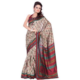 Aaina Multi Printed Bhagalpuri Silk Saree (FL-1294-D)