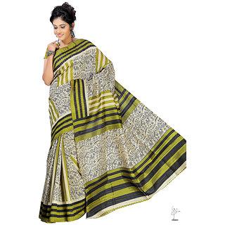Aaina Multi Printed Bhagalpuri Silk Saree (FL-1334-A)