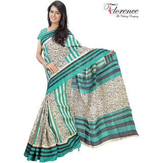 Aaina Multi Printed Bhagalpuri Silk Saree (FL-1334-C)