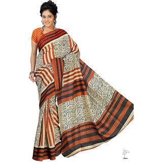 Aaina Multi Printed Bhagalpuri Silk Saree (FL-1334-B)