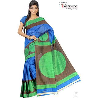 Aaina Multi Printed Bhagalpuri Silk Saree (FL-1338-B)