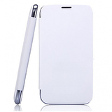 Flip Case Cover For Micromax A116 Canvas Hd -White + HD Earphone FREE