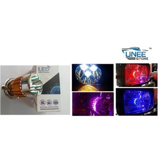 Cree Led Headlight White Bulb With Flasher-Tvs Flame Ds125 Abc9727