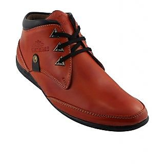 Elvace Tan Trigon Boot Men Shoes-5037