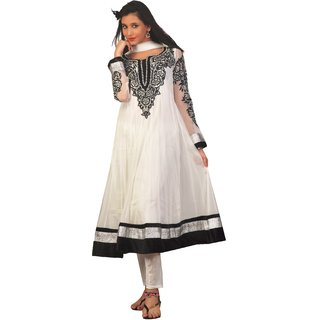 Idha Readymade White Net Churidar Stylish Suit