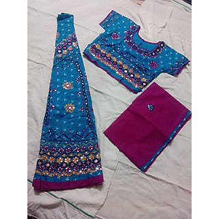 Navratri Special Chaniya Choli for Adults - Free Size (Blue  Pink)