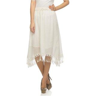White cotton skirts for women  styleL
