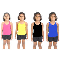 Combo - 4 Cami Slips ( Magenta/Yellow/Black/Blue )
