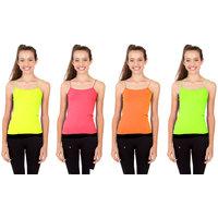 Combo - Neon Kids Camisole ( Pink/Yellow/Green/Orange )