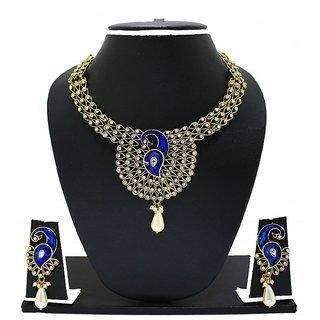 Zaveri Pearls Peacock Glory Necklace set for Women-ZPFK2690