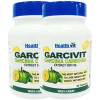 HealthVit GARCIVIT Pure Garcinia Cambogia Supplements 500mg 60 Capsules