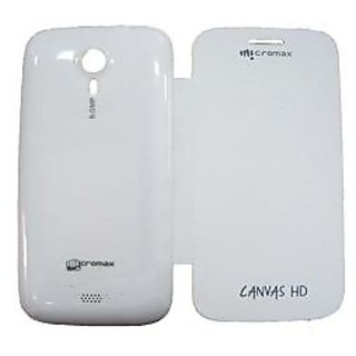 Micromax Flip Cover For A116 Canvas HD White available at ShopClues for Rs.299