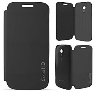 Micromax Flip Cover For Canvas HD A116 Black available at ShopClues for Rs.299