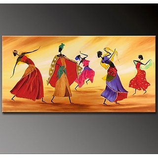 Wall Art Africa Dance oil Painting