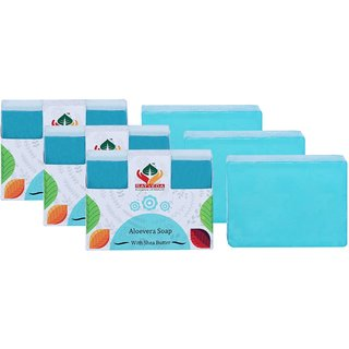 Satveda Aloevera Soap With Shea Butter Pack Of 3
