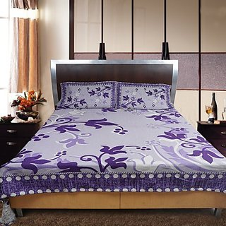 Shoppeholics Pollycotton Floral Double Bedsheet Sh-60