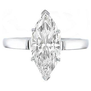 18 Kt White Gold Fashionable Solitiare Diamond Ring For Wedding (Design 16)