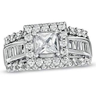 Fashionable Exclusive Princess Diamond Ring For Wedding Jewelry (Design 2)