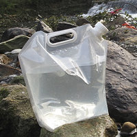 Folding 10L PE Drinking Water Bag Pouch Container Barrel Carrier Camping Hiking Picnic BBQ